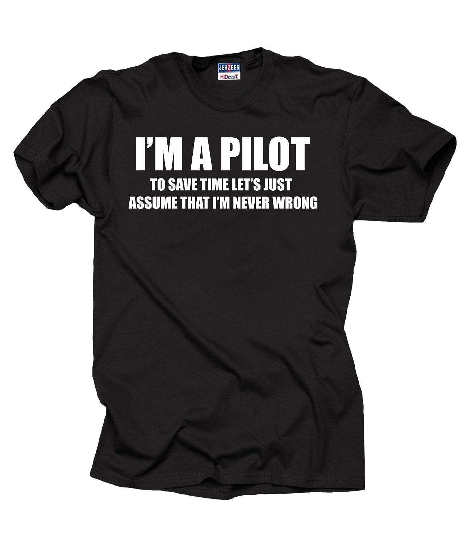 7f1ef81f2 Amazon.com: Pilot Flight School T-Shirt: Clothing