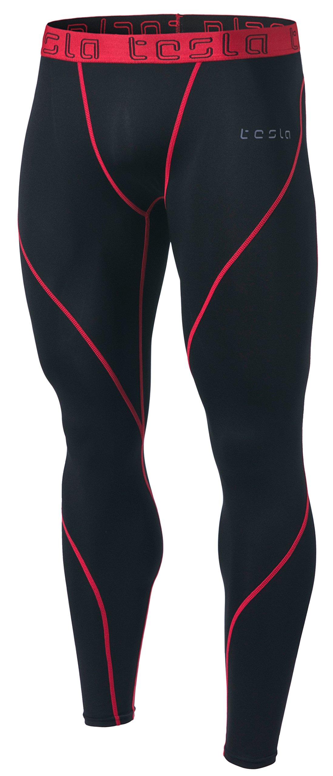 TSLA DRST TM-MUP19-KKR_2X-Large Men's Compression Pants Baselayer Cool Dry Sports Tights Leggings MUP19