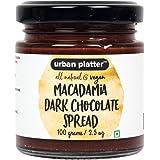 Urban Platter All Natural, Vegan Macadamia Dark Chocolate Spread, 100 Grams