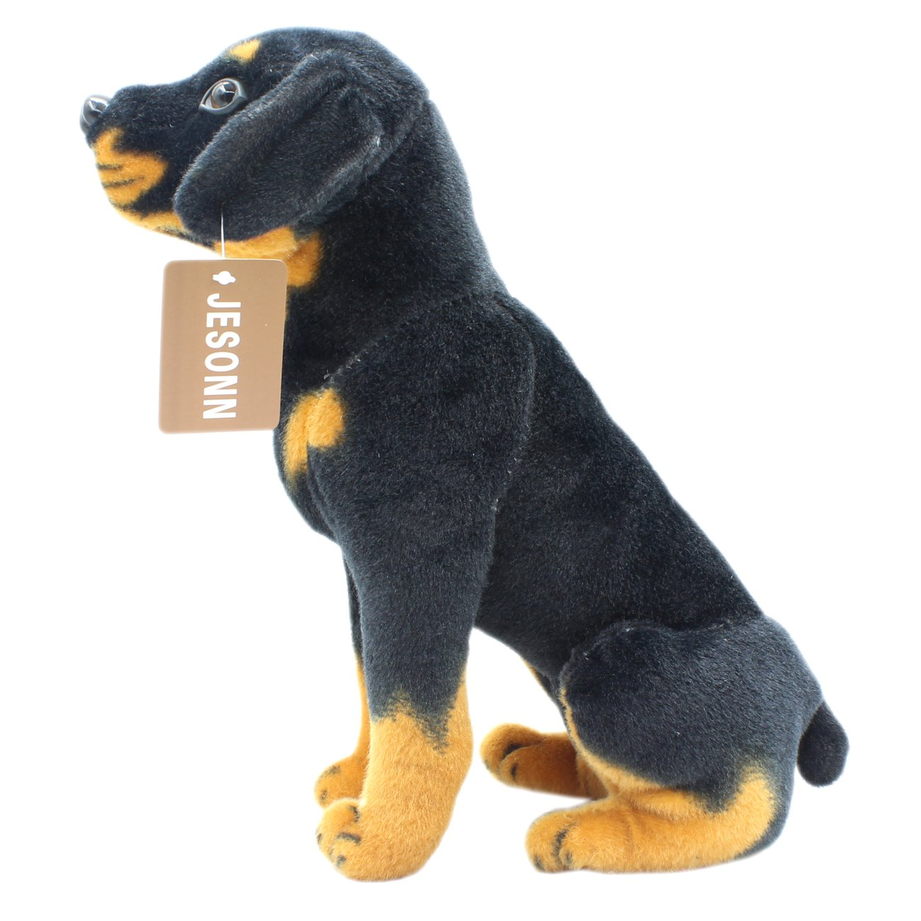 redweiler 12 Inches JESONN Lifelike Stuffed Animals Toys Sitting Dog Plush (Shepherd, 14 Inches)