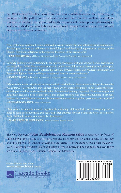 For the Unity of All: John Panteleimon Manoussakis, Patriarch