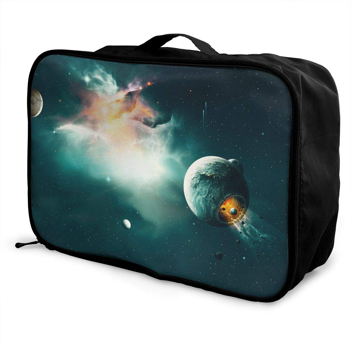 Travel Luggage Duffle Bag Lightweight Portable Handbag Fantasy Space Galaxy Stars Large Capacity Waterproof Foldable Storage Tote