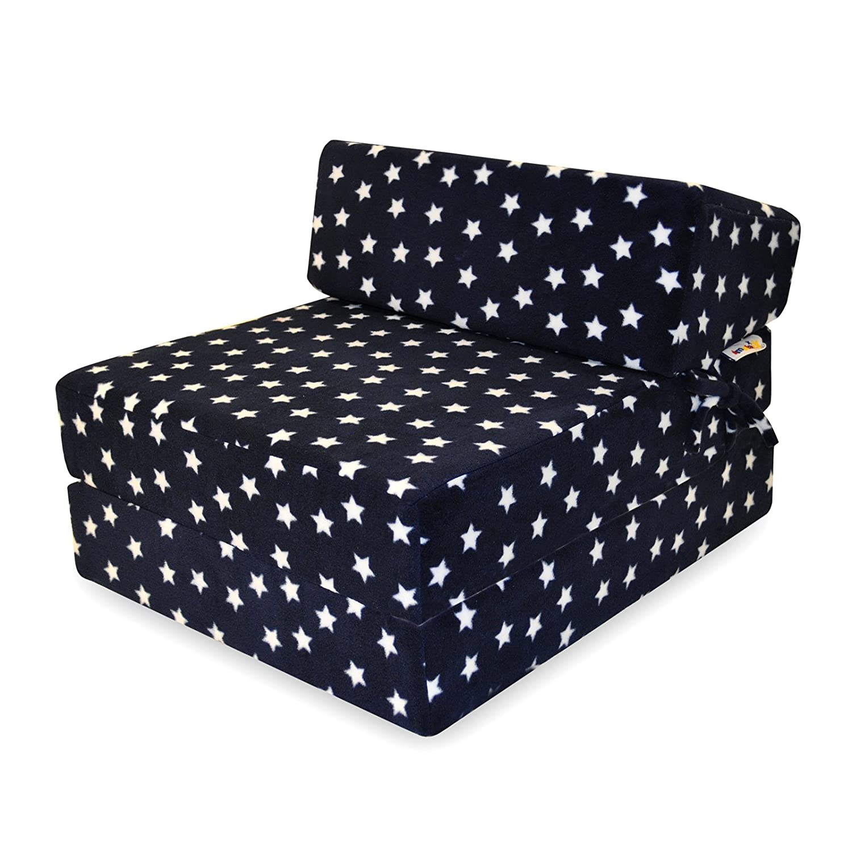 Amazon.com: Espuma de memoria cama Z azul marino estrellas ...