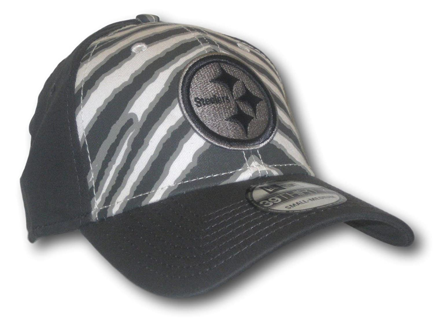 Amazon.com   Fan Apparel Pittsburgh Steelers Gray   White Flex Fit Hat Lid  Cap (Size  S M)   Sports   Outdoors c8ec95dc3