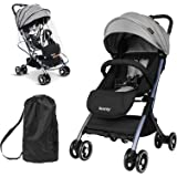 besrey Lightweight Baby Stroller, Folding Compact Travel Stroller for Airplane, Convenience Stroller with Reclining Seat for