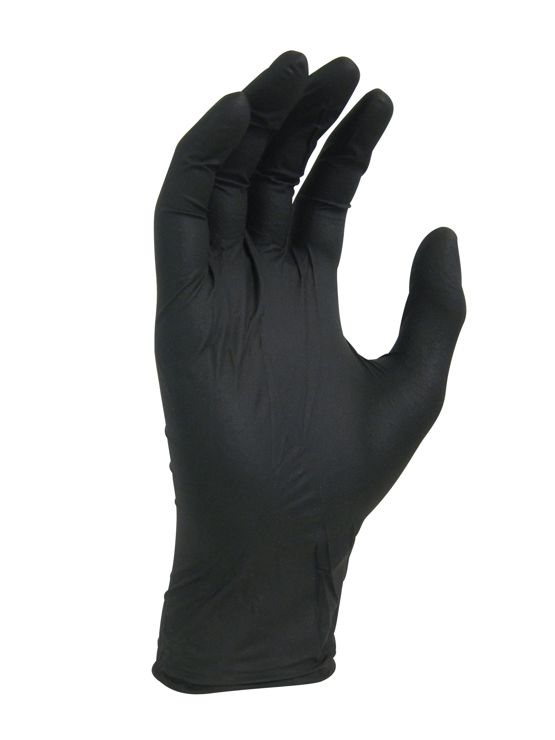 Nitrile Disposable Gloves, 100% Powder and Latex Free, Food Safe, 3.5 mil, Black Color, 1 Case Containing 10 Boxes (1000 Gloves), (Medium (9388-20))