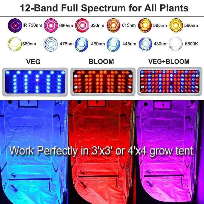 Amazon com : Hi-Sdard LED Grow Light 1000W, Full Spectrum