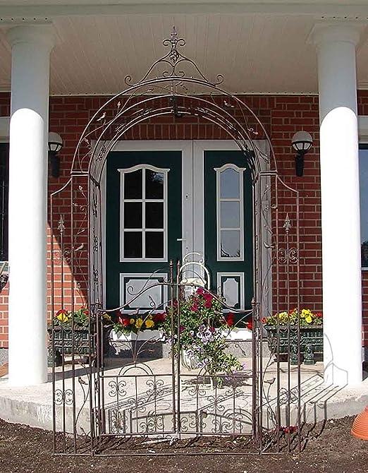 Victorian romántico Metal Pergola enrejado arco planta Vintage ...