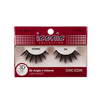e84c6e41742 Image Unavailable. Image not available for. Color: i Envy by Kiss iconic 3D  Angle & Volume Lashes CHIC ICON 04