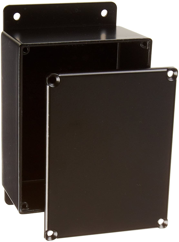 Black Powdercoat Finish 4-43//64 Length x 3-43//64 Width x 2-13//64 Height BUD Industries CU-4234-B Die Cast Aluminum Econobox with Mounting Bracket 4-43//64 Length x 3-43//64 Width x 2-13//64 Height