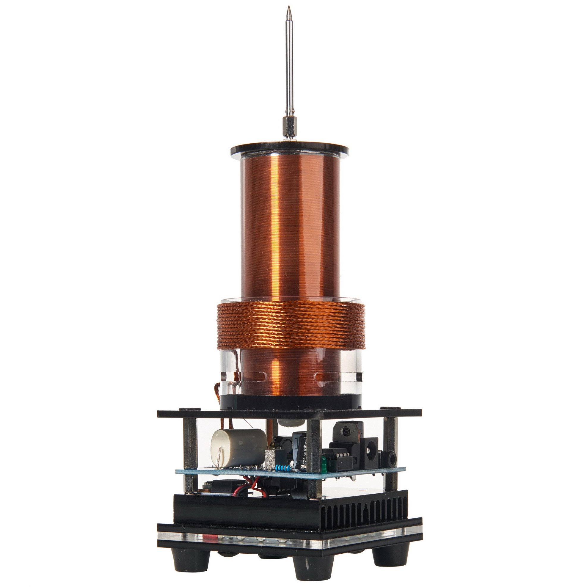 Joytech Music Tesla Coil Arc Plasma Loudspeaker Wireless Transmission Experiment Desktop Toy Model DL01