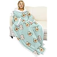 Manta sherpa ponible para adultos, para hombre y mujer, cómoda y calentita, manta polar con mangas, manta bata para el…