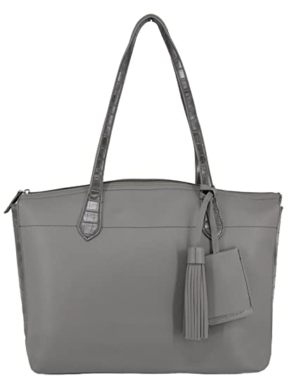 2c6d69df39 David Jones - Grand Sac à Main Cabas Fourre-Tout Femme Style Cuir Véritable  -