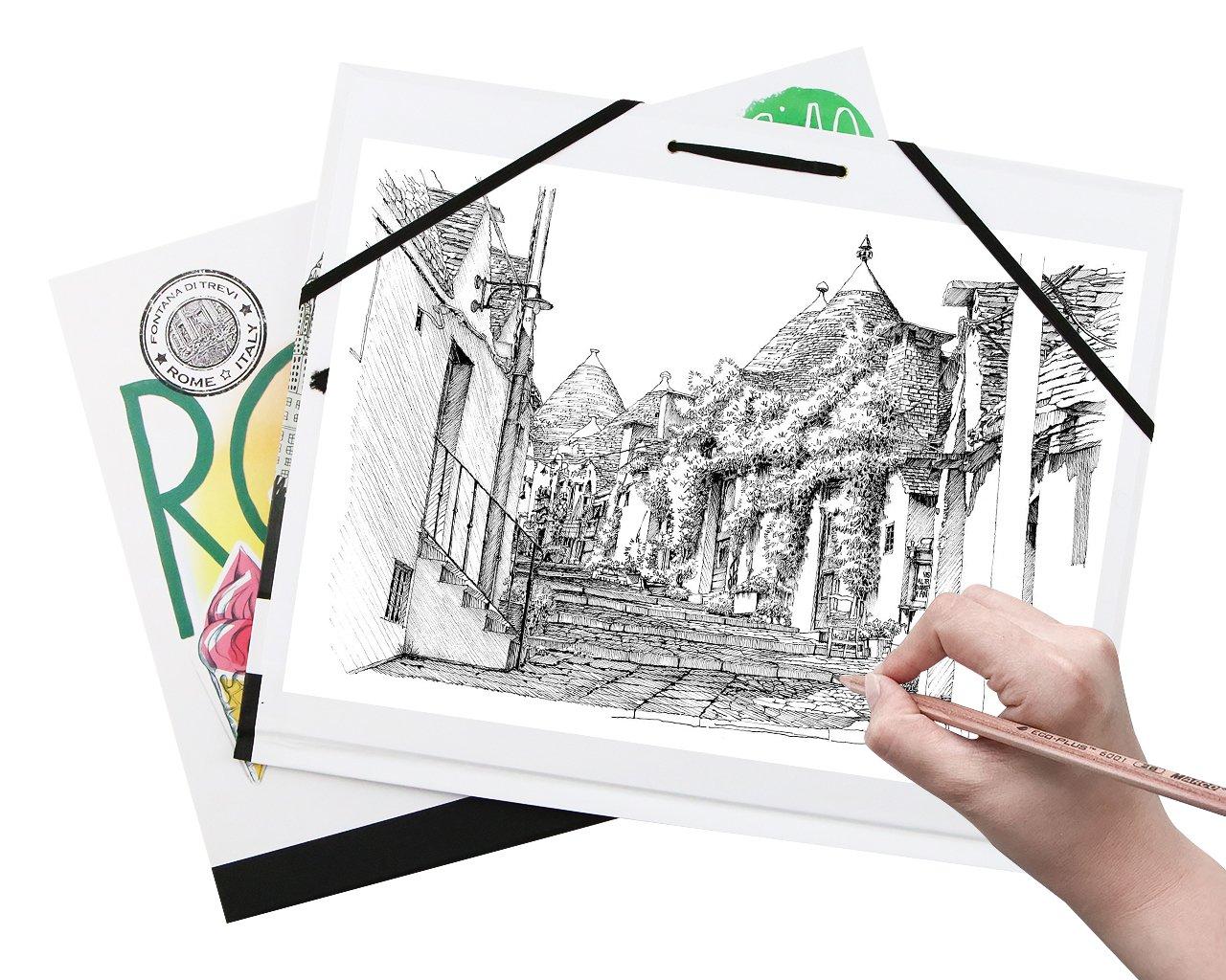 UniGift Waterproof Color Cover Clip Sketch Paper Drawing Board Watercolor Drawing Board