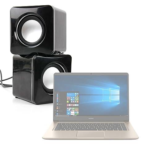 DURAGADGET Altavoces Compactos para Portátil Huawei MateBook D - Tamaño Mini - Conexión Mini Jack +