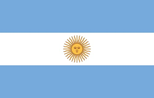 My Planet Large 5'x3' Argentina Flag Premium Quality Argentinean Supporter Fans Decoration Flag