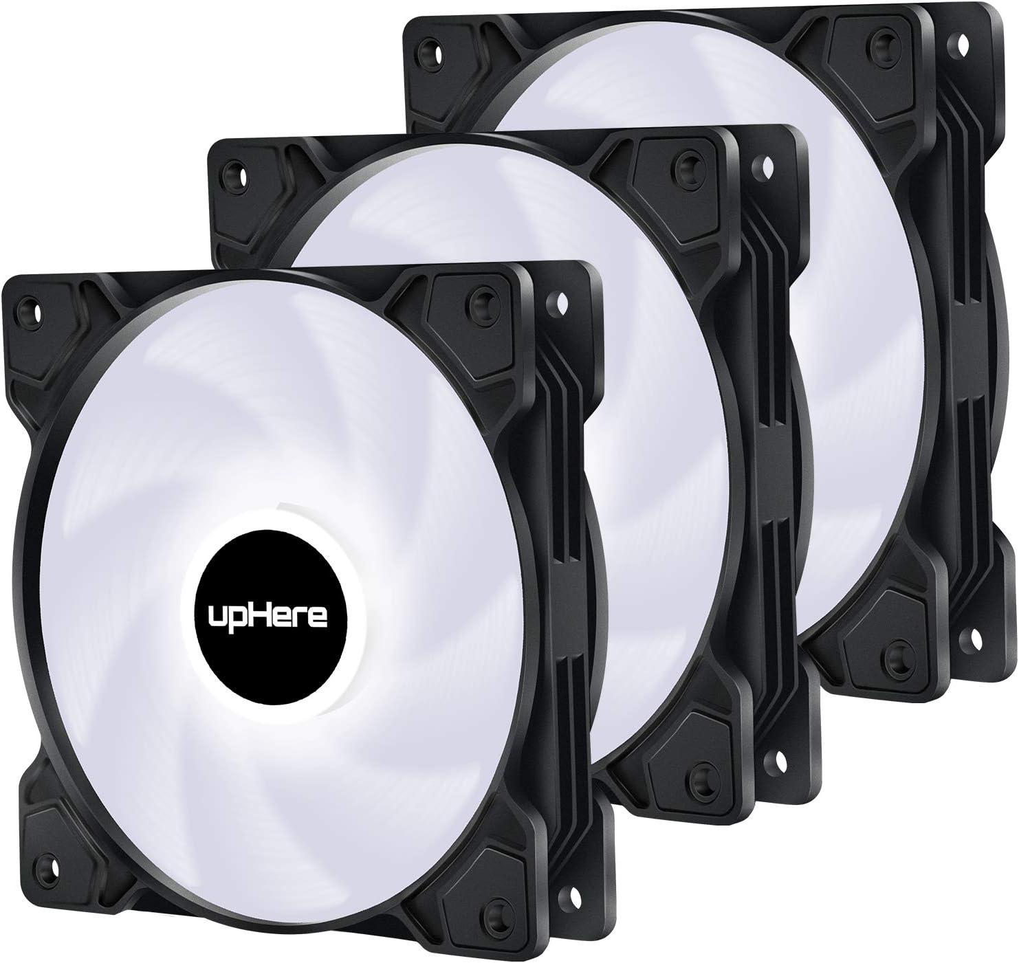 Uphere 3pin 120mm Led Weiß Silent Lüfter Für Computer Zubehör