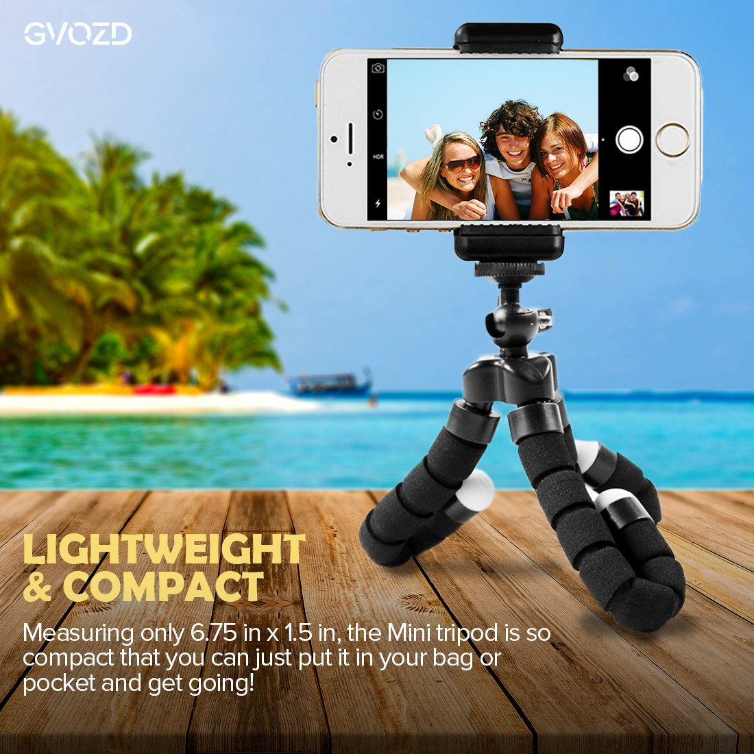 Uncategorized Tripod Books amazon com gvozd tripod stand holder flexible mini with bluetooth wireless remote shutter and universal clip for iphone phone smart