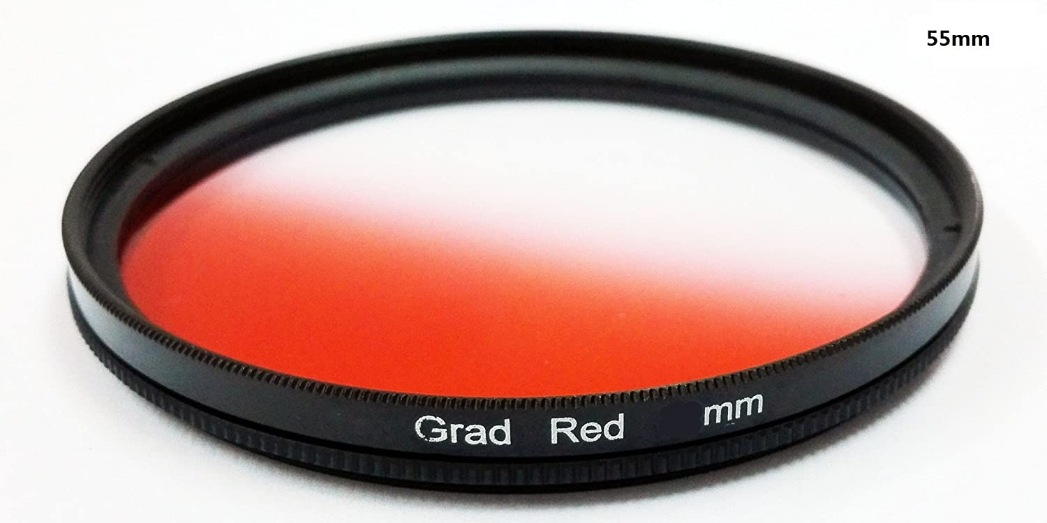 1pcs 37mm 40.5mm 43mm 46mm 49mm 52mm 55mm 58mm 62mm 67mm 72mm 77mm Graduated Red Gradual Color Lens Filter Protector 49mm