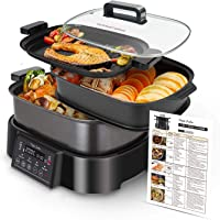 Taylor Swoden Arthur - Olla de cocción lenta, grill y vaporera.3 en 1, 1250W, multifunción, programas preconfigurados y…