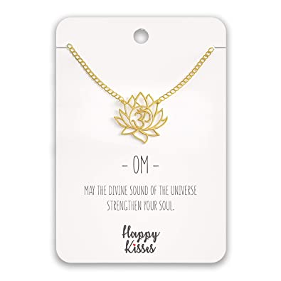 Amazon.com: Happy Kisses - Collar con colgante de flor de ...
