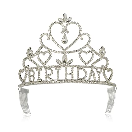 Amazon.com: dczerong Mujer Cumpleaños Tiara Corona: Beauty