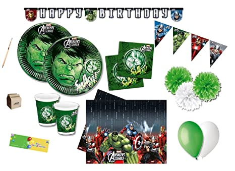 Tavolo Compleanno Bambini : Irpot kit n 46 hulk coordinato tavola compleanno bambini super