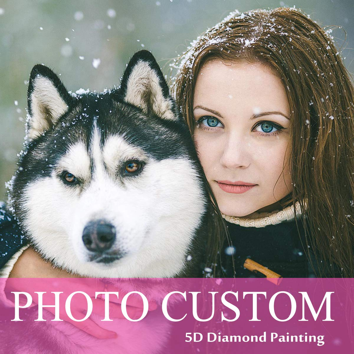 Custom Diamond Painting Kits Full Drill for Adults,Personalized Photo Customized Diamond Painting,Private Custom Your Own Picture (Round Drill, 23.6x31.5inch) by COLEEY