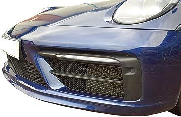 Zunsport Kompatibel mit Porsche Carrera 997.2 C2 Schwarz 2009-2012 vorderer Grillsatz C2S
