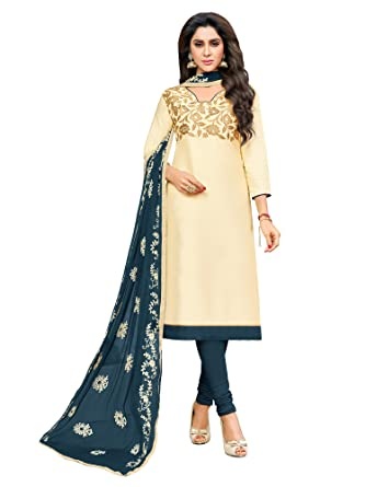 cd257c8875 AKHILAM Women's Banarasi Silk Unstitched Salwar Suit Material (Salwar  Suit_KMNSK906_Off-White_Free Size): Amazon.in: Clothing & Accessories