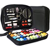 LifeMaster Travel Sewing Repair KIT, Set w/Over 100 Supplies & 24-Color Threads & Needles | Compact, Portable Mini Mending Button Sew Kits - Sowing Accessories Easy to Use for Adults & Beginners