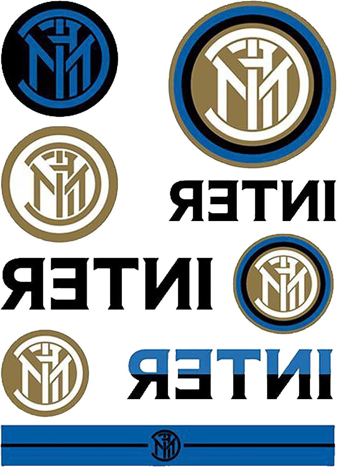 Amazon Com Fc Inter Milan Tattoo Pack One Size Blue Clothing