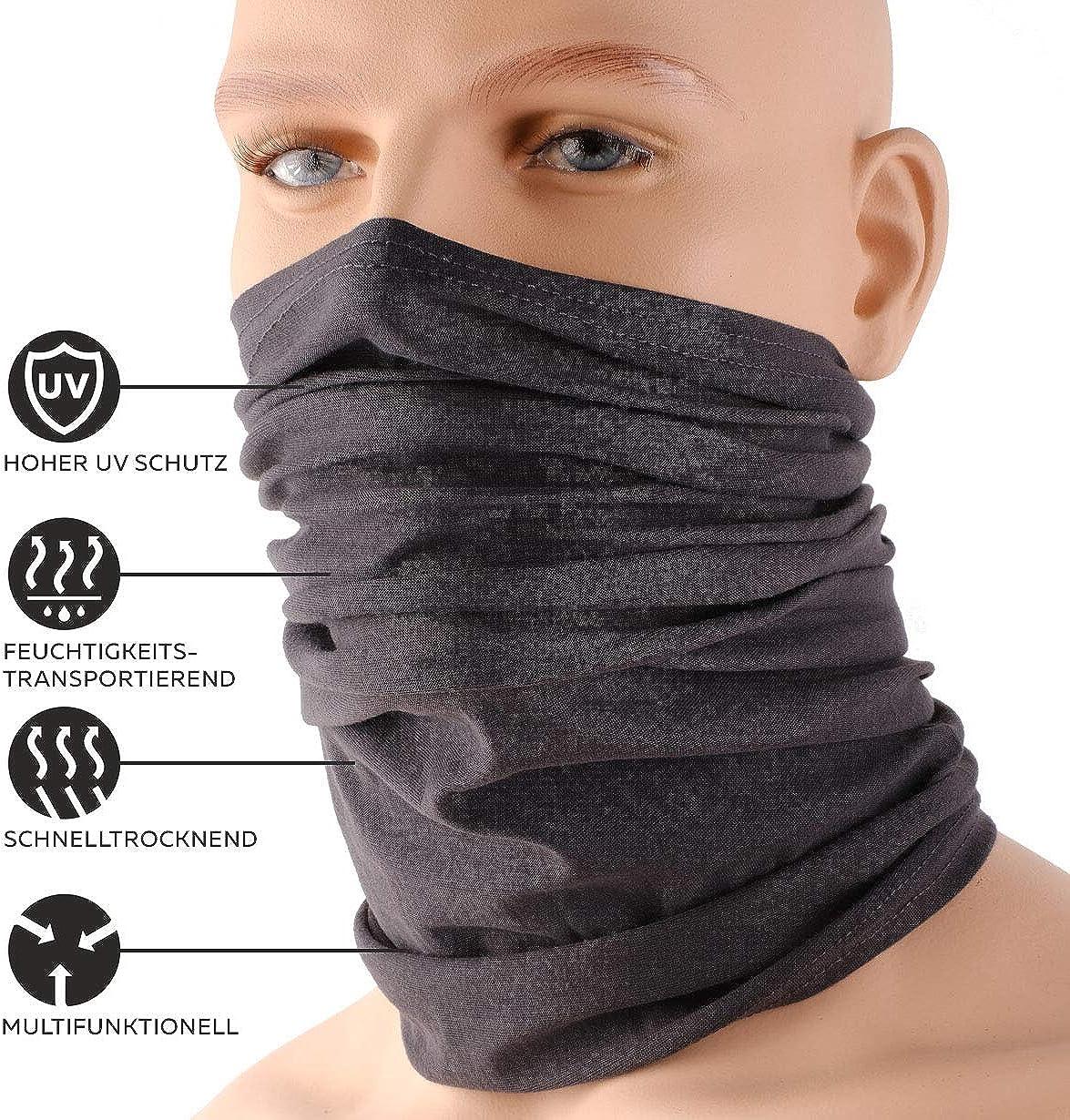 bandana//set of 3 in trendy designs HILLTOP 3 x motorcycle multifunctional scarf tubular scarf sports scarf
