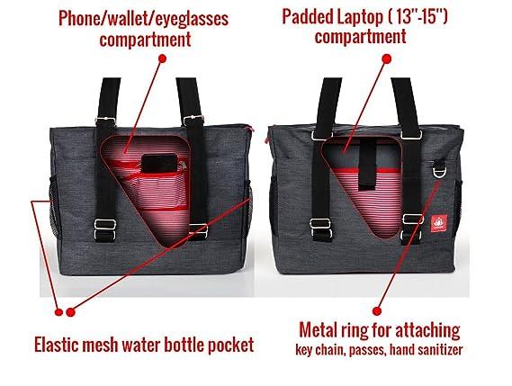 cef3766083 Amazon.com   LUCKAYA Yoga Mat Tote Bag Backpack  Multi Purpose Carryall Bag  for Office