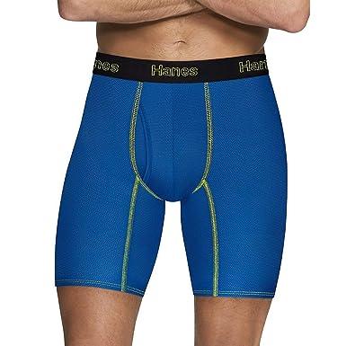 a7521c1dbc62 Hanes Men s Comfort Flex Fit Breathable Mesh Long Leg Boxer Briefs 3-Pack  at Amazon Men s Clothing store