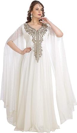 New 100/% Silk Georgette Two Piece Embellished Caftan Dress Wedding Kaftan