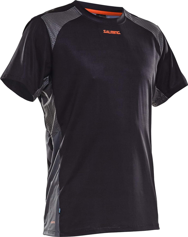 Salming Challenge T-Shirt Herren Black Gr/ö/ße L 2020 Laufshirt Kurzarm