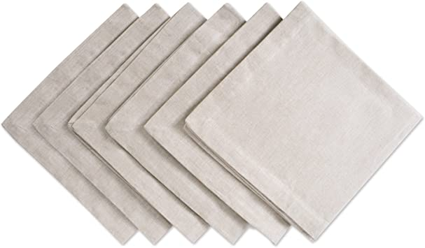 Amazon Com Dii 100 Cotton Chambray Kitchen Tabletop Collection Napkin Natural 6 Count Home Kitchen