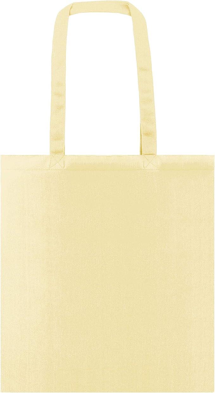 Pack de 50 bolsas de algodón de 38x42cm y asas largas: Amazon.es ...