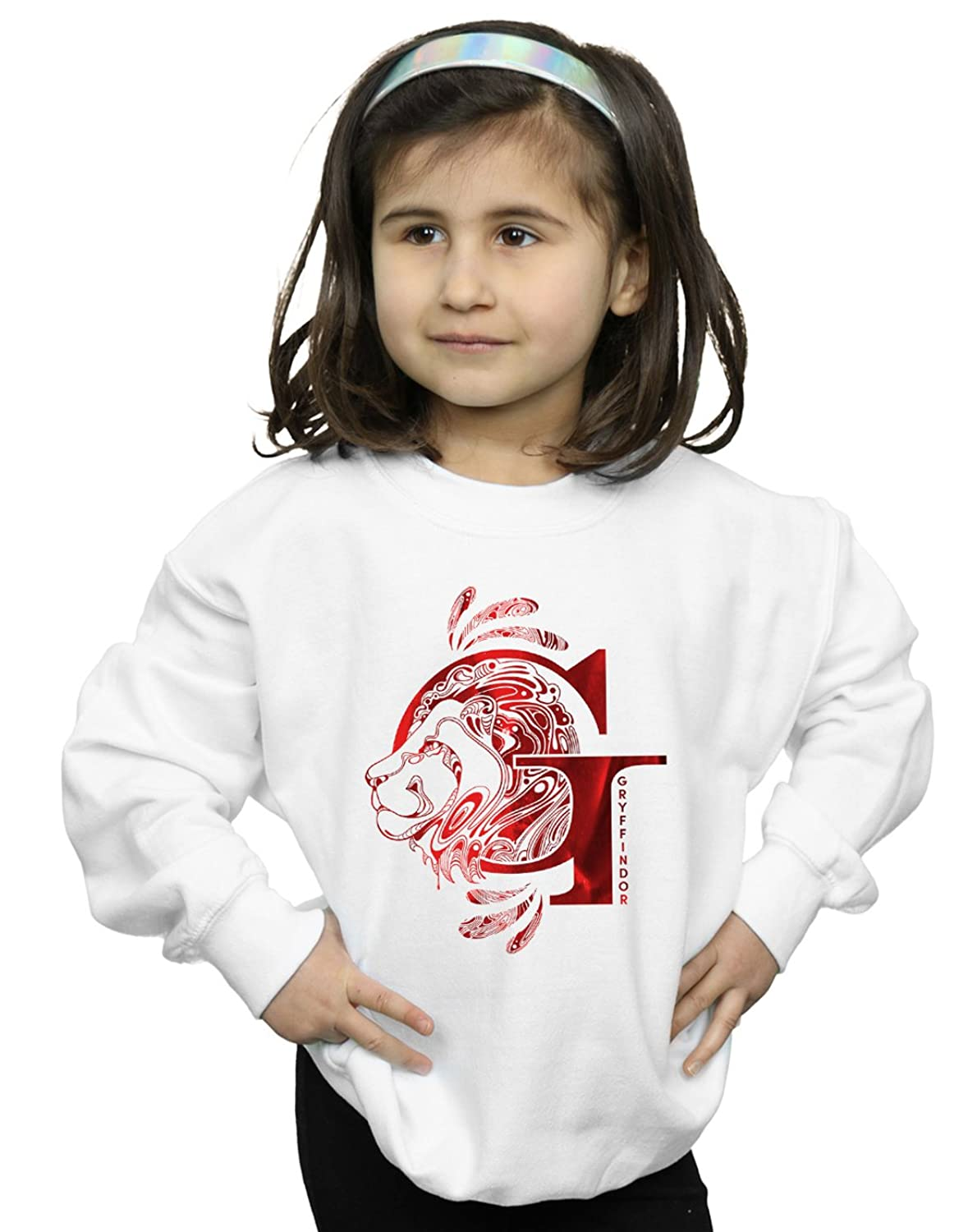 Absolute Cult Harry Potter Fille Gryffindor Lion Sweat-Shirt