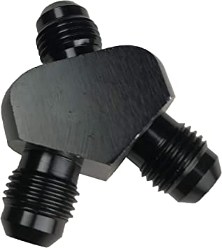 """6 AN AN-6 6AN Aluminum Fitting Adapter Swivel Female to 1//2/"""" NPT Male Black"""