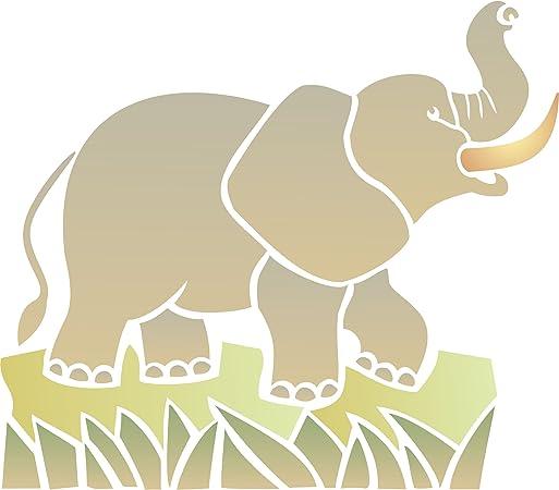 safari stencil DIY stencil stencil A5 8x10 Elephant stencil stencil for painting african stencil A4 nature stencil reusable stencil