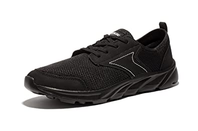Newluhu Mens Breathable Mesh Soft Sole Casual Comfortable Lace-Up Trail  Running Shoes,Walk
