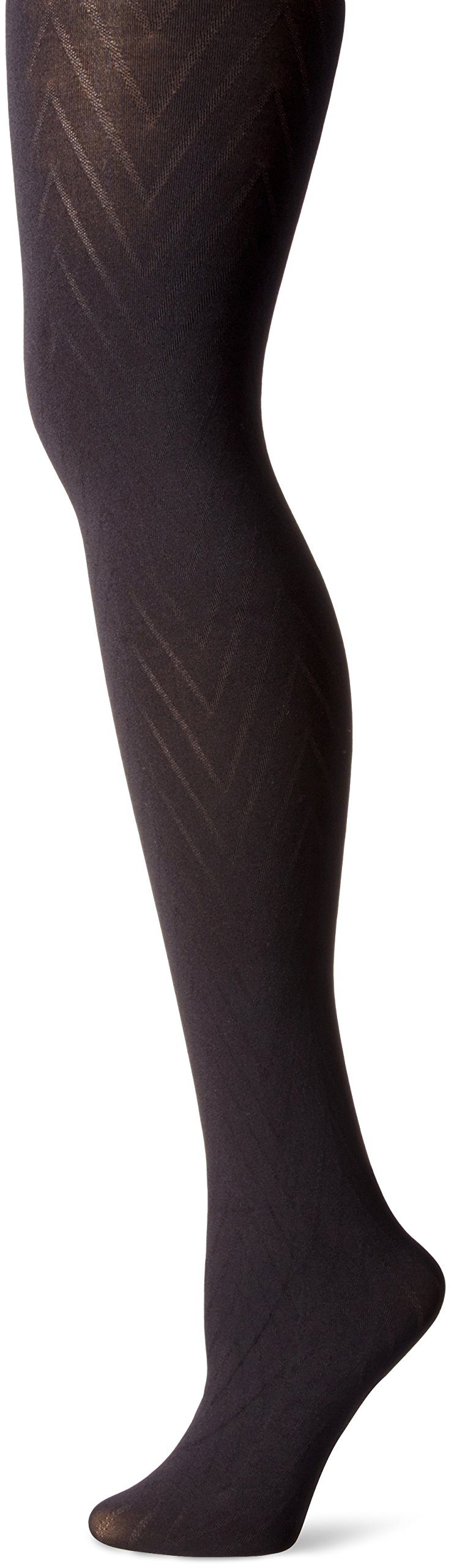 Ingrid & Isabel Women's Maternity Chevron Tights, Black, 1/2