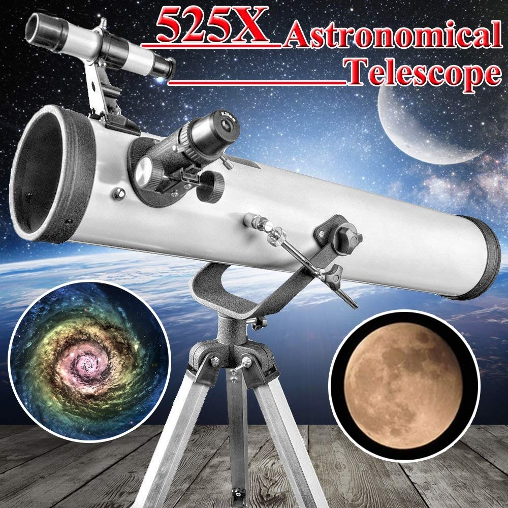 li yingwei 1PCS, New Astronomical Reflector Telescope with Tripod and Eyepieces Space 700-by-76 mm by li yingwei