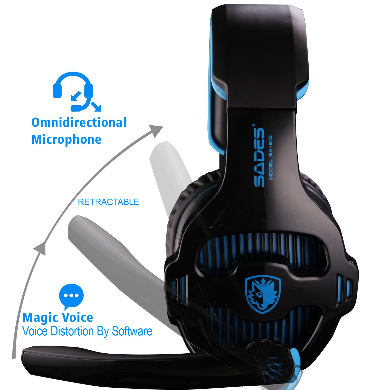 PC,Laptop Xbox one Sades Newest Version PS4 Gaming Headset with Microphone for PS4 PlayStation 4