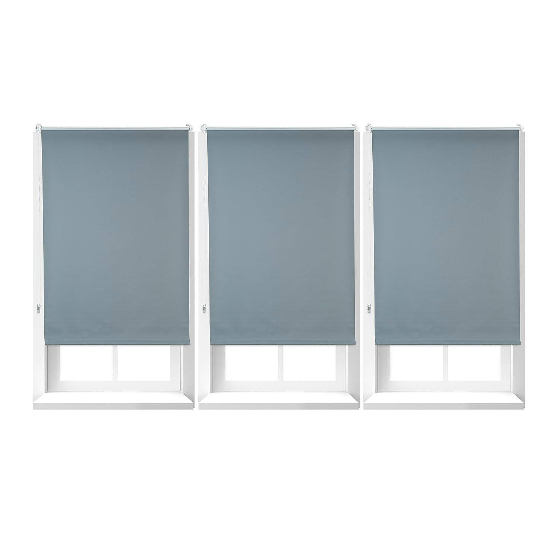 3x verdunkelungsrollo im set mit hitzeschutz thermo rollo klemmfix blickdichtes x. Black Bedroom Furniture Sets. Home Design Ideas