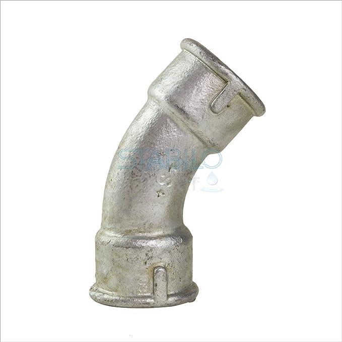 "Temperguss Fitting Rohr Bogen lang 1/"" Zoll 45° Winkel DN25 Gewindefitting"