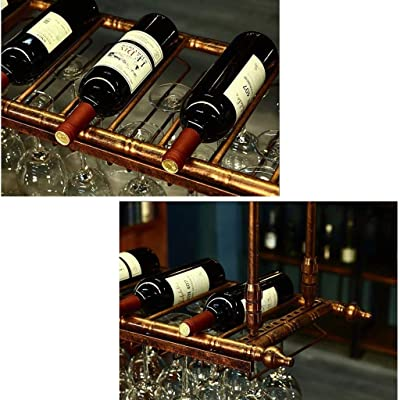 Decanter Dryer Stand CROING Tabletop Wine Glass Holder Stand,Wine Glass Drying Rack Countertop Wine Rack Hold 1 Bottles,1 Decanter and 6 Glasses
