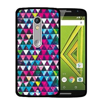 cb237de7e1a WoowCase Funda Motorola Moto X Play, [Motorola Moto X Play ] Funda Silicona  Gel Flexible Triangulos Brillantes Efecto Grunge, Carcasa Case TPU  Silicona: ...